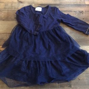 Navy tulle sparkle Hanna Andersson holiday dress
